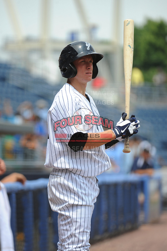 Staten Island Yankees infielder John Murphy (36) during game against the Mahoning Valley Scrappers at Richmond County Bank Ballpark at St.George on July 22, 2013 in Staten Island, NY.  Mahoning Valley defeated Staten Island 8-2.  Tomasso DeRosa/Four Seam Images