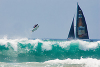 Flying Surfer and Sailboat