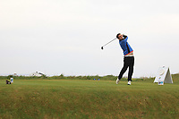 Colin Woodfoofe (Dun Laoghaire) on the 1st tee during Round 1of the Flogas Irish Amateur Open Championship 2019 at the Co.Sligo Golf Club, Rosses Point, Sligo, Ireland. 16/05/19<br /> <br /> Picture: Thos Caffrey / Golffile<br /> <br /> All photos usage must carry mandatory copyright credit (© Golffile | Thos Caffrey)