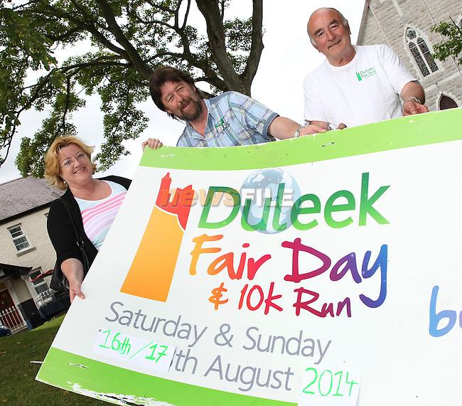 Regina Brodigan, Derek Clarke and Jim Curley at the launch of the Duleek Festival. www.newsfie.ie