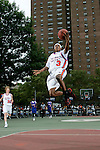 Brandon Jennings (3) goes up for a layup during the Elite 24 Hoops Classic game on September 1, 2006 held at Rucker Park in New York, New York.  The game brought together the top 24 high school basketball players in the country regardless of class or sneaker affiliation.