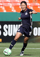 Homare Sawa #10 of Washington Freedom during a WPS match against Sky Blue FC at RFK Stadium on May 23, 2009 in Washington D.C. Freedom won the match 2-1