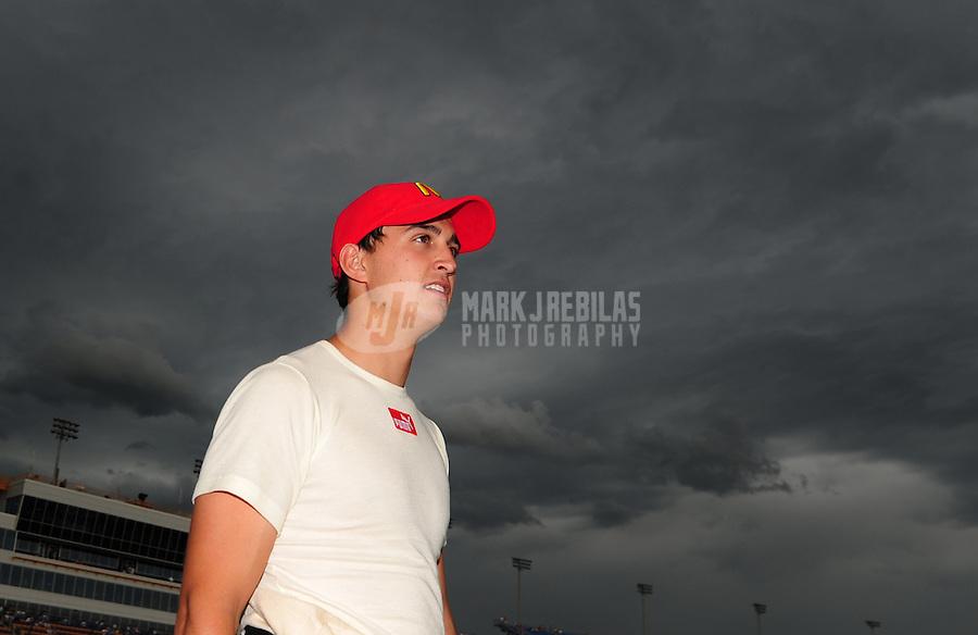 Jun. 21, 2008; Newton, IA, USA; IRL driver Graham Rahal during qualifying for the Iowa Corn Indy 250 at the Iowa Speedway. Mandatory Credit: Mark J. Rebilas-