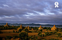 Pagodas at sunrise, Bagan, Myanmar (Licence this image exclusively with Getty: http://www.gettyimages.com/detail/82406719 )