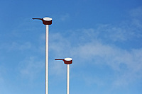 Pictured: The rugby posts with the small saucepans (sospan fach) at the top in Parc Y Scarlets. Wednesday 09 March 2018<br /> Re: The effect that the Scarlets RFC has had in the town of Llanelli in Carmarthenshire and the west Wales region.