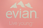 "Evian Live Yong banner displayed during the Evian ""Live Young"" photo shoot event hosted by Maria Sharapova at Openhouse Gallery on August 24, 2010."