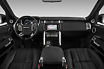 Stock photo of straight dashboard view of a 2015 Land Rover RANGE ROVER Vogue 5 Door SUV Dashboard
