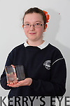 Spa NS Student Kate Waldron winner of the Best Speaker award at the Final of Primary school Debating competition in the Tralee Education Centre on Monday