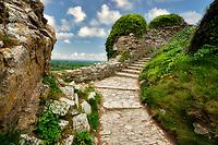 Stone Pathway in Corfe Castle. Dorset Coast. Jurassic Coast . England