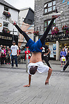 Breakdancers on Shop Street, Galway City, Ireland