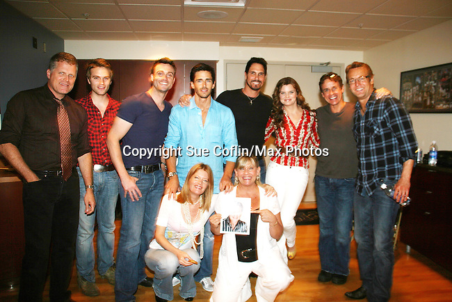 Doug Davidson, Christian LeBlanc, Justin Deas, Heather Tom, Don Diamont, Daniel Goddard, Adam Reist, Brandon Beemer, Van Hansis, Michelle Stafford, Kim Zimmer, Robert Newman (no order) at Soapstar Spectacular presented by KDKA-TV stars Y&R, BB, GL and ATWT on June 13, 2010 at the Petersen Events Center, University of Pittsburgh, PA and benefited the Susan G. Komen for the Cure Pittsburgh Affiliate. (Photo by Sue Coflin/Max Photos)