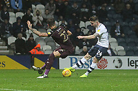 Preston North End's Sean Maguire gets a shot on goal<br /> <br /> Photographer Mick Walker/CameraSport<br /> <br /> The EFL Sky Bet Championship - Preston North End v Swansea City - Saturday 12th January 2019 - Deepdale Stadium - Preston<br /> <br /> World Copyright © 2019 CameraSport. All rights reserved. 43 Linden Ave. Countesthorpe. Leicester. England. LE8 5PG - Tel: +44 (0) 116 277 4147 - admin@camerasport.com - www.camerasport.com