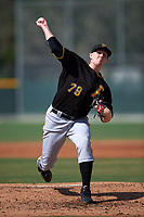 Pittsburgh Pirates Henry Hirsch (79) during a minor league Spring Training intrasquad game on April 3, 2016 at Pirate City in Bradenton, Florida.  (Mike Janes/Four Seam Images)