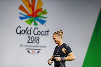 Andrea Hams of New Zealand fails her attempt in Clean & Jerk during the Women's 69kg Final. Gold Coast 2018 Commonwealth Games, Weightlifting, Gold Coast, Australia. 8 April 2018 © Copyright Photo: Anthony Au-Yeung / www.photosport.nz