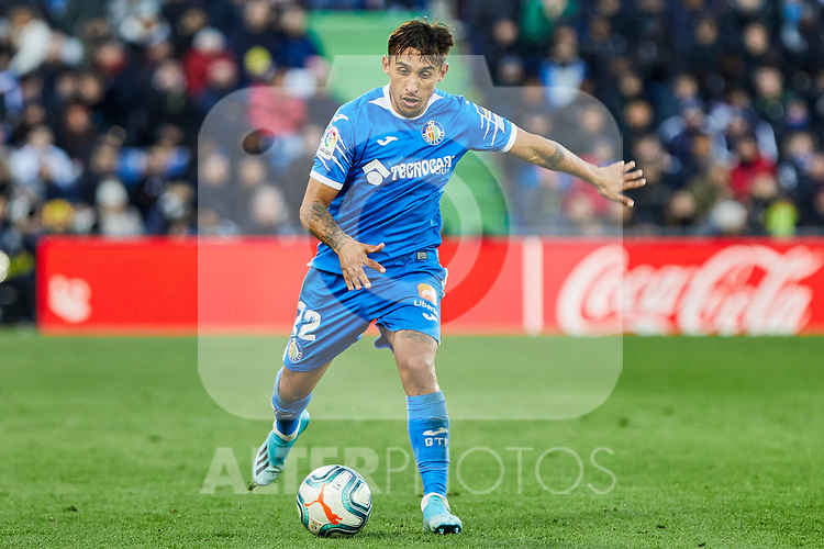 Damian Suarez of Getafe FC during La Liga match between Getafe CF and Real Madrid at Coliseum Alfonso Perez in Getafe, Spain. January 04, 2020. (ALTERPHOTOS/A. Perez Meca)