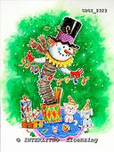 GIORDANO, CHRISTMAS SANTA, SNOWMAN, WEIHNACHTSMÄNNER, SCHNEEMÄNNER, PAPÁ NOEL, MUÑECOS DE NIEVE, paintings+++++,USGI2323,#X#