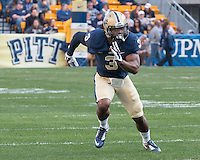 Pitt linebacker Nicholas Grigsby. The Georgia Tech Yellow Jackets defeated the Pitt Panthers 56-28 at Heinz Field, Pittsburgh Pennsylvania on October 25, 2014.