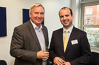 John Harris of Officeteam (left) with Simon Curtis of Potter Clarkson