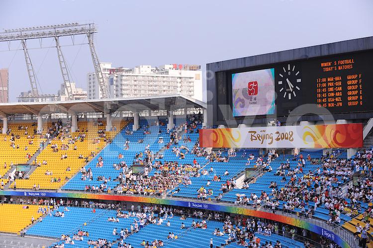 Olympia 2008  Peking  Fussball  Frauen   12.08.2008 Nigeria - Brasilien Stadionuebersicht Worker's Stadium Peking.