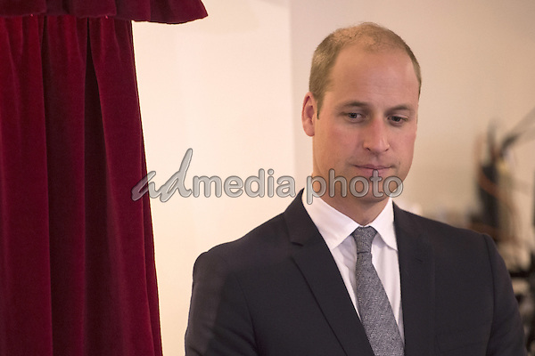 14 October 2016 - Manchester, United Kingdom - Prince William Duke of Cambridge visits Francis House during a visit to the hospice in Manchester. Francis House provides respite care, home care, sibling support, activity weekends for bereaved siblings, end of life care and bereavement support. Photo Credit: Alpha Press/AdMedia
