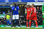 Romelu Lukaku of Everton looks dejected following a miss - Everton vs. Leicester City - Barclay's Premier League - Goodison Park - Liverpool - 22/02/2015 Pic Philip Oldham/Sportimage