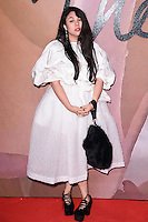 Simone Rocha at the Fashion Awards 2016 at the Royal Albert Hall, London. December 5, 2016<br /> Picture: Steve Vas/Featureflash/SilverHub 0208 004 5359/ 07711 972644 Editors@silverhubmedia.com