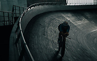 Belgian Cycling track team training at the Eddy Merckx Velodrome / Gent