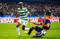 ANDERLECHT, BELGIUM - SEPTEMBER 27 : Scott Sinclair midfielder of Celtic FC and Uros Spajic defender of RSC Anderlecht   during the Champions League Group B  match between RSC Anderlecht and Celtic FC on September 27, 2017 in Anderlecht, Belgium, 27/09/2017<br /> Foto Photonews/Panoramic