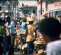 Market scene, Images of the capital,Port au Prince, Haiti 1975