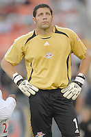 US Open Cup Quarterfinal, Red Bulls goalkeeper Tony Meola (1) during the team presentation. DC United defeated the New York Red Bulls 3-1, Wednesday, August 23, 2006 at RFK Stadium.