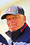5 March 2010: Atlanta Braves' manager Bobby Cox watches his team take batting practice prior to a Spring Training game against the Washington Nationals at Champion Stadium in the ESPN Wide World of Sports Complex in Orlando, Florida. The Braves defeated the Nationals 11-8 in Grapefruit League action. Mandatory Credit: Ed Wolfstein Photo