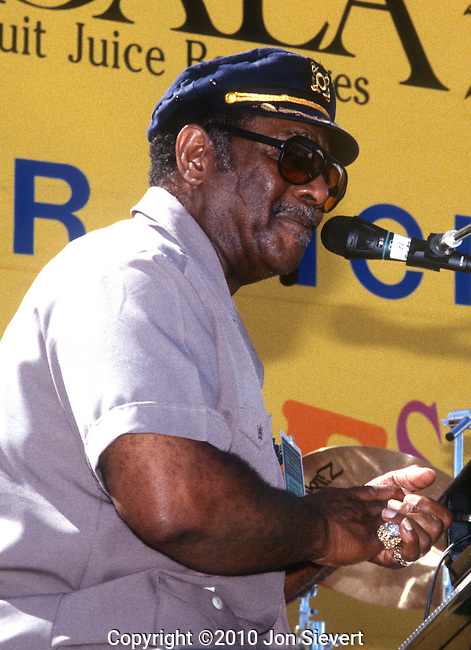 Johnnie Johnson, Sept 1994. piano player and blues musician. His work with Chuck Berry led to his induction into the Rock and Roll Hall of Fame.