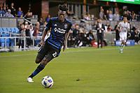 San Jose, CA - Saturday June 09, 2018: Fatai Alashe during a Major League Soccer (MLS) match between the San Jose Earthquakes and Los Angeles Football Club at Avaya Stadium.