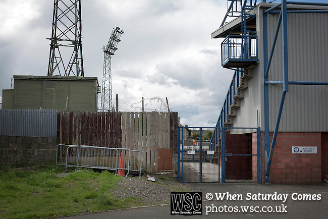 Queen of the South 2 Stranraer 0, 11/08/2015. Scottish Challenge Cup first round, Palmerston Park. An exterior view of Palmerston Park, Dumfries, before Queen of the South hosted Stranraer in a Scottish Challenge Cup first round match. The game was the opening match of the season in a competition open to sides below the Scottish Premiership. Queen of the South won the match 2-0, watched by a crowd of 1229 spectators. Photo by Colin McPherson.