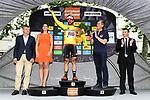 Thomas De Gendt (BEL) Lotto-Soudal wins Stage 1 and goes into the race leaders yellow jersey of the Criterium du Dauphine 2017, running 170.5km from Saint Etienne to Saint Etienne, France. 4th June 2017. <br /> Picture: ASO/A.Broadway | Cyclefile<br /> <br /> <br /> All photos usage must carry mandatory copyright credit (&copy; Cyclefile | ASO/A.Broadway)