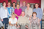 DINNER: The family of Joseph Leen, Ballyheigue, came together to celebrate his 70th birthday in The West End Bar & Restaurant, Fenit on Saturday night. Front l-r: Geraldine Slattery, Joseph Leen (birthday) and Christina Leen. Back l-r: Sheila, David, Willie Joe and Roseleen, Pat and Ann O'Donnell and Jermiah Slattery.....