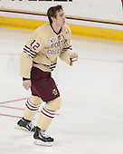 Kevin Hayes (BC - 12) - The visiting University of Notre Dame Fighting Irish defeated the Boston College Eagles 2-1 in overtime on Saturday, March 1, 2014, at Kelley Rink in Conte Forum in Chestnut Hill, Massachusetts.