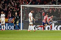 8th February 2020; Wanda Metropolitano Stadium, Madrid, Spain; La Liga Football, Atletico de Madrid versus Granada; Angel Martin Correa (Atletico de Madrid)  celebrates his goal in the 6th minute for 1-0