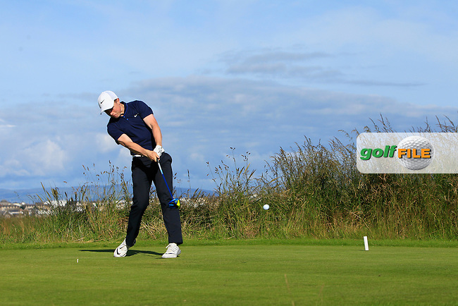 Conor Purcell (Portmarnock) on the 4th tee during Round 3 of Matchplay in the North of Ireland Amateur Open Championship at Portrush Golf Club, Portrush on Thursday 14th July 2016.<br /> Picture:  Thos Caffrey / www.golffile.ie