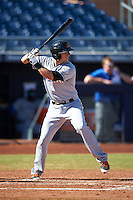 Mesa Solar Sox Austin Nola (8), of the Miami Marlins organization, during a game against the Peoria Javelinas on October 19, 2016 at Peoria Stadium in Peoria, Arizona.  Peoria defeated Mesa 2-1.  (Mike Janes/Four Seam Images)