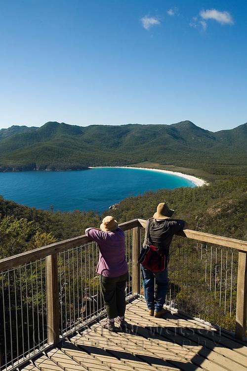 Wineglass Bay Lookout.  Freycinet National Park, Tasmania, AUSTRALIA