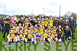 Declan O'Sullivan captain and his Liebherr team mates celebrate after winning the All Ireland inter firm final against Burnside in Killarney on Saturday