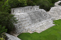 House of the Moon, Great Acropolis, Puuc architectural style, Late Classic Period, 600 - 900 AD, Edzna, Campeche, Mexico. Picture by Manuel Cohen