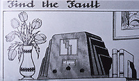 Find the Fault Image. Entertainment game popular in the 1930's.  Photo Sept. 1989.