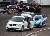 Feb 20, 2015; Chandler, AZ, USA; NHRA funny car driver Jeff Diehl during qualifying for the Carquest Nationals at Wild Horse Pass Motorsports Park. Mandatory Credit: Mark J. Rebilas-