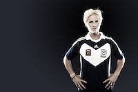 Jessica Fishlock. Welsh national captain Fishlock arrived as Victory's fourth foreign import, and has made a huge impression since signing on as a guest player for the team. The peroxide blonde midfielder is something of a pocket dynamo in midfield, running the opposition to the point of exhaustion during games while hardly appearing to be suffering at the same time. //  The 25 year old represents English side Bristol Academy in the FA WSL and was also named the FA Player's Player of the Year after a storming 2012 season. //  (Copyright Photo Sydney Low. Text Zee Ko)