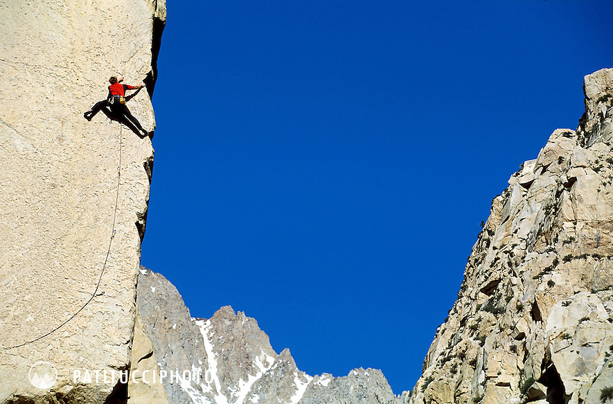 Climbing in Pine Creek Canyon outside of Bishop, California