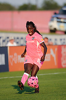 Eniola Aluko (18) of Sky Blue FC. The Western New York Flash defeated Sky Blue FC 2-0 during a Women's Professional Soccer (WPS) match at Yurcak Field in Piscataway, NJ, on July 17, 2011.