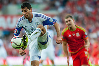 Eytan Tibi of Isreal in action during their UEFA EURO 2016 Group B qualifying round match held at Cardiff City Stadium, Cardiff, Wales, 06 September 2015. EPA/DIMITRIS LEGAKIS