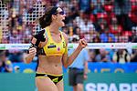 26.08.2017, Hamburg, Stadion Am Rothenbaum<br />Beachvolleyball, World Tour Finals<br /><br />Jubel Kira Walkenhorst (#2 GER)<br /><br />  Foto © nordphoto / Kurth